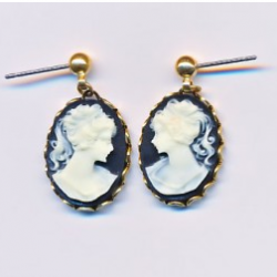 blackcameoearrings