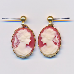 Carnellian Cameo Earrings